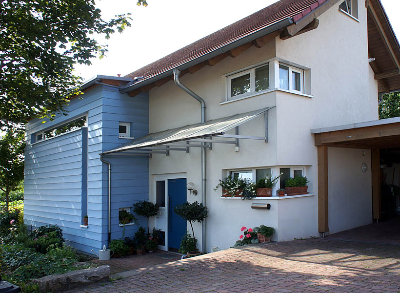 einfamilienhaus efh 10 mit pultdach architektur planung. Black Bedroom Furniture Sets. Home Design Ideas